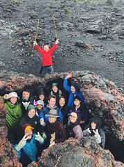 GG300 Field Study (Tianna Chantal) Tags: volcanology geology field work fieldwork class college university students kilauea lavaflow fissure hawaii bigisland