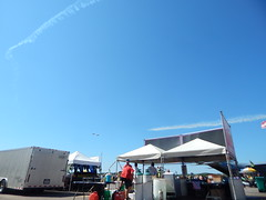 DSCN0274 (mestes76) Tags: 070718 duluth minnesota duluthairshow airshows vendors concessions people strangers jets planes sky inflight jettrails