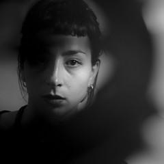 Beatrice V (ndrearu) Tags: girl portrait black white bw indoor light studio shooting model shadow canon 6dmarkii eye eyes