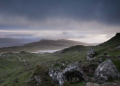 The Storm Is Here (Vipul Ramjiani) Tags: scotland storm sea rock atmosphere path lake drama cloud rain