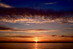 Sunset (rustyruth1959) Tags: nikon uk england norfolk weybourne beach sea sunset sky clouds evening water coast seaside