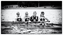 four ladies at work (grahamrobb888) Tags: monochrome blackwhite rowers rowing boat water silverefex nikon nikond500 d500 nikkor afnikkor80200mm128ed af80200mmf28 strathclydepark race racing four