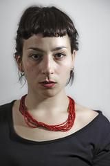 Beatrice I (ndrearu) Tags: girl red color studio lights umbrella eyes canon 6dmarkii 6dii portrait shooting 85mm