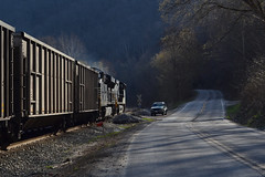 Country Roads (Tristan_Miller) Tags: ns norfolk southern coal train delorme wv west virginia