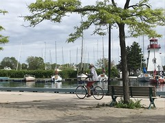 Life can remain simple despite the excitement (Trinimusic2008 -blessings) Tags: trinimusic2008 judymeikle nature bench hbm today june 2019 toronto to ontario canada candid lake marina lakeontario lighthouse bicycle sky sailboats wethenorth nbachampions wethenorthday raptorsvictoryparade iphone