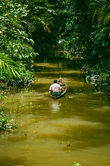Commuting Through Water- Lime (neuro.arrythmia) Tags: rivers green landscape southeast asia lifestyle nature rural