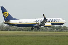 EI-FTV | Ryanair | Boeing B737-8AS(WL) | CN 44770 | Built 2017 | DUB/EIDW 13/05/2019 (Mick Planespotter) Tags: aircraft airport 2019 dublinairport collinstown nik sharpenerpro3 eiftv ryanair boeing b7378aswl 44770 2017 dub eidw 13052019 b737 flight
