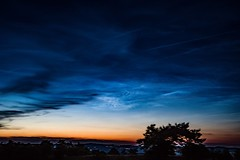 Noctilucent Clouds (clemensgilles) Tags: beautiful clouds germany deutschland eifel nlc noctilucent sternenhimmel longexposure nightphotography night amazing availablelight astrophotography nachtfotografie astrofotographie astrophotographers