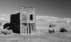 Looks Familiar (nedlugr) Tags: california ca usa bodie bodiestatehistoricpark blackandwhite bw ruraldecay ruralwest ghosttown historic truck wagon house saloon middaywaltz·themurderofcrows
