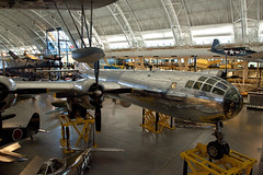 Enola Gay, National Air and Space Museum, Steven F. Udvar-Hazy Center, Chantilly, Virginia (Roger Gerbig) Tags: nationalairandspacemuseum smithsonian stevenfudvarhazycenter aviation museum rogergerbig chantilly virginia dulles enolagay b29superfortress boeing bomber atomicbomb littleboy
