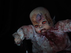 Kodachrome Kid (Twila1313) Tags: horrordoll doll creepydoll scary bruises sores blood veins zombie nightmare halloween undead ghoul color contrast