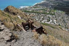 DSC33_27834 (heartinhawaii) Tags: oldmotor maili puuohulu landscape mountainscape pillboxhike waianaepillbox waianaehiking waianaemountains westsidepillbox waianae oahu hike hiking westoahu hawaii nikond3300