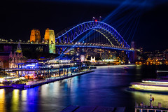 Icon in Blue (Jared Beaney) Tags: canon6d canon australia australian photography photographer travel sydney vividsydney newsouthwales 2019 sydneyharbourbridge bridge night sydneyharbour harbour