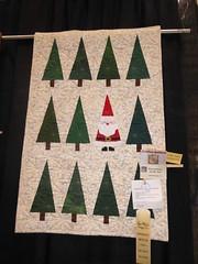 Glenda Freiberg - Santa in the Trees (c_nilsen) Tags: sanmateocounty sanmateo sanmateocountyfair fair countyfair digital digitalphoto california quilt christmas