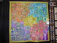 Rainbow squares quilt (c_nilsen) Tags: sanmateocounty sanmateo sanmateocountyfair fair countyfair digital digitalphoto california quilt