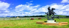 Bar U Ranch NWN (Mr. Happy Face - Peace :)) Tags: sky cloud sun art2019 nwn cowboy wolves statue pioneer albertabound canada alberta baru ranch bench hbm historic 150years