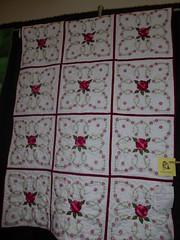 Irene Buchner - Pink & Red Roses (c_nilsen) Tags: sanmateocounty sanmateo sanmateocountyfair california digital digitalphoto quilt fair countyfair