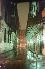(David Chee) Tags: canon new sure shot af35m ii autoboy 2 kodak ultramax 400 newyork nyc manhattan chinatown cortlandt alley rain street film analog