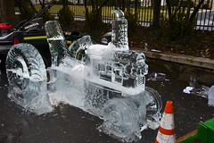 013 Tractor Ice Sculpture (megatti) Tags: festival fireandice icecarving icesculpture lancastercounty lititz pa pennsylvania tractor