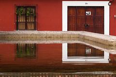 Reflections in public laundry pool, Antigua. (brendatharp) Tags: publiclaundry antigua reflection fineartprint cultural destination culture walldecor vats latin travel adventure guatemalan guatemala nobody wallart centralamerica traveldestination