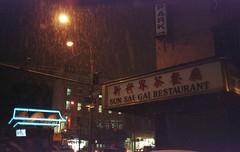 (David Chee) Tags: street new nyc 2 sun newyork film analog canon chinatown shot kodak manhattan ii 400 baxter sure sai gai ultramax af35m autoboy rain