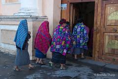 Women walking into church, Guatemala. (brendatharp) Tags: guatemala clothing group church people walking cultural destination culture shawls adventure latin travel santamariadejesus guatemalan traveldestination centralamerica central women traditional religious worship