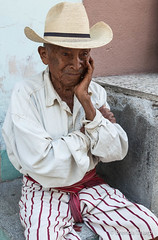 A man from the Guatemalan highlands. (brendatharp) Tags: guatemala clothing centralamerica person cultural destination culture hat man traveldestination santiagodeatitlán latin travel america central adventure traditional male
