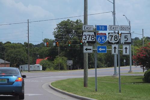 US78 East AL5 South at AL378 Signs