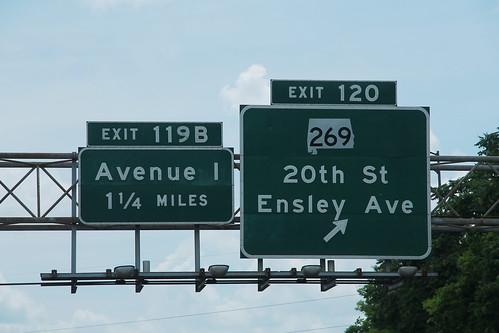 I-20 West I-59 South - Exit 120 - AL269 Ave-I Signs