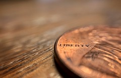 LIBERTY (mswan777) Tags: penny coin detail letter macro money apple iphone iphoneography mobile indoor studio still close president cent lincoln copper plate zinc