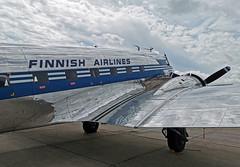 Finnish Airlines (gooneybird29) Tags: flugzeug flughafen aircraft airport airplane airline wiesbadenerbenheim douglas dc3 c47 finnair