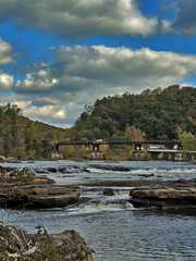 Rocky River (George Neat) Tags: clouds sky scenic landscapes ohiopyle scenery fayette county pa pennsylvania georgeneat neatroadtrips patriotportraits state park laurelhighlands water yough youghiogheny river rapids ferncliff trail gap greatalleghenypassage bridge nature outside