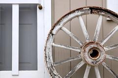 Wheel (synaptica1) Tags: wheel wagon old rusty door wooden metal
