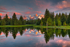 Schwabacher Landing 2011-06 01 HDR (Jim Dollar) Tags: jimdollar grandtetonnationalpark jackson wyoming schwabacherlanding reflection sunrise canon6d