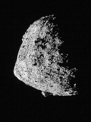 Bennu from 645 Meters in Altitude, variant (sjrankin) Tags: 18june2019 edited nasa osirisrex bennu grayscale asteroid boulder close boulders