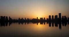 sunset at East Lake (Sights of China) Tags: wuhan ostsee china sonnenuntergang
