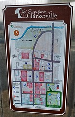 Clarkesville GA (kevystew) Tags: georgia habershamcounty clarkesville map sign