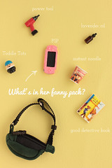 What's In Lily's Fanny Pack? (tomocho) Tags: dollhouse miniatures rement