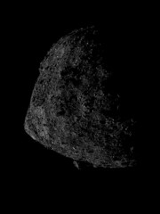 Bennu from 645 Meters in Altitude (sjrankin) Tags: 18june2019 edited nasa osirisrex bennu grayscale asteroid boulder close boulders