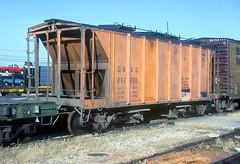 CB&Q 212928 (Chuck Zeiler 48Q) Tags: cbq 212928 mow burlington railroad covered hopper freight sand clyde train chuckzeiler chz car