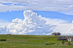 Distant Thunderhead (northern_nights) Tags: thunderstorm thunderhead storm cheyenne wyoming weather rural clouds sky