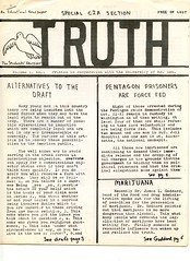 'Truth' – a newsletter for D.C. area high schools: 1967 (Washington Area Spark) Tags: students for democratic society sds truth high school youth newsletter newspaper outreach washington dc district columbia university maryland college park 1967