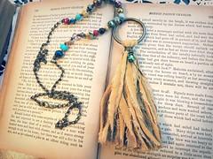 Boho Tassel Necklace - Bohemian Jewelry - Recycled Jewelry - Linen Tassel Necklace - Statement Necklace by PrimitiveFringe (Primitive Fringe) Tags: upcycled clothing boho shabby chic handmade etsy mori girl