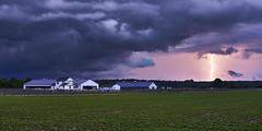 Storm Over the Stables (Valley Imagery) Tags: storm weather somd maryland usa lightning clouds fence horse field green house sony a99ii sigma 50mm 14 miops trigger slik amt