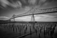 Astoria-Megler Bridge (leogogo1023) Tags: bridge blackwhite cityscape city washington oregon astoriameglerbridge