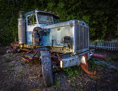 Retired Pete (Paul Rioux) Tags: vehicle tractor semitruck peterbilt old retired decaying decay rust patina oxidation prioux