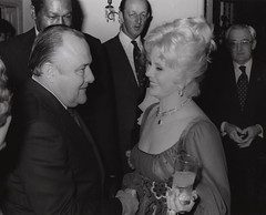 Robert Muldoon & Eva Gabor (Archives New Zealand) Tags: evagabor robertmuldoon losangeles politics politicians unitedstates actress hungary muldoon