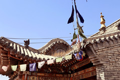 Dolma Ling/6 (Cath Forrest) Tags: mongolia ulaanbaatar religion buddhist temple roof sky