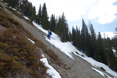 Spring trail conditions (*Andrea B) Tags: lakelouise banffnationalpark banff nationalpark spring 2019 spring2019 purple mound purplemound wolverine ridge wolverineridge lipalian mountain lipalianmountain ski skiing skitouring backcountry april april2019 springskiing