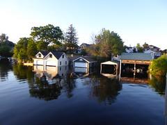 Boathouses (WabbitWanderer) Tags: gananoque river boathouse boathouses riverside shoreline boating ontario stlawrence summer evening
